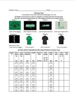 Spirit Wear (orders due 10/19/18)