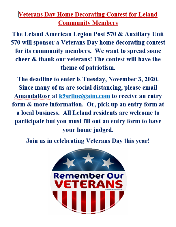 Veterans Day Home Decorating Flyer 2020