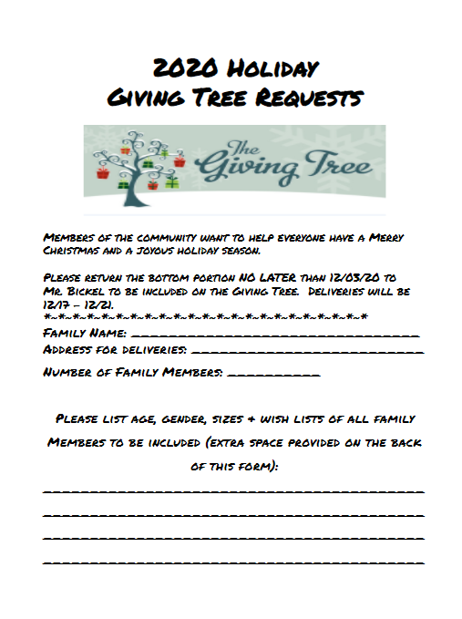 Giving Tree form - page 1