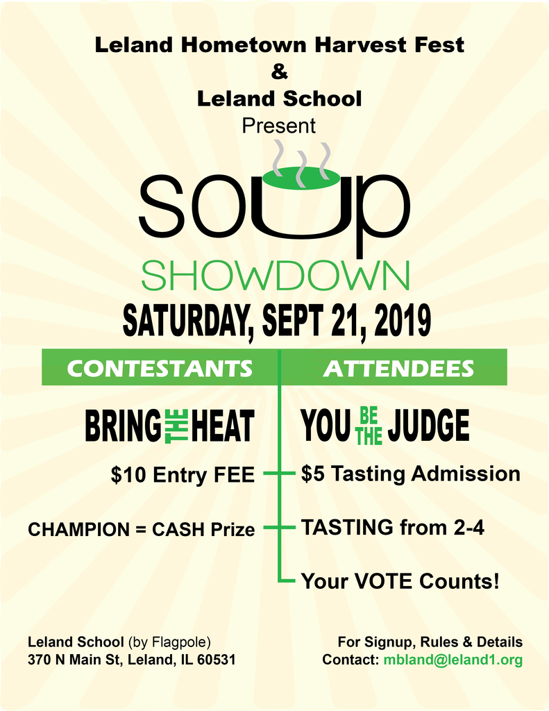 Soup Showdown!  It's time to get your soups ready!!!